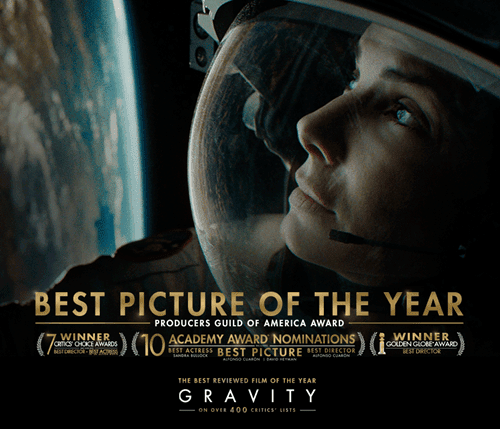 gravity oscar nominations