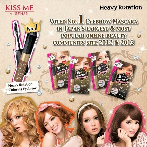 Kiss Me Heavy Rotation Coloring Eyebrow Mascara Promotion, Kiss Me, Heavy Rotation Coloring Eyebrow Mascara, Promotion, japan Cosmetics, makeup, eyebrow, mascara