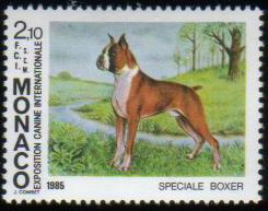 1985年モナコ公国 ボクサーの切手