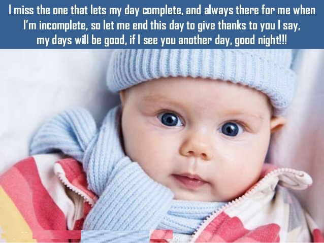 goodnight images with cute baby