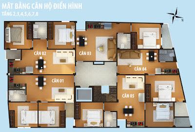 Mặt bằng chung cư mini Trần Bình