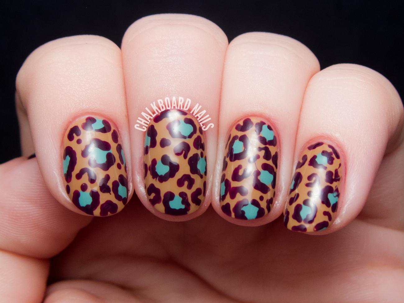 OPI Nordic Collection Leopard Print Nail Art | Chalkboard Nails ...