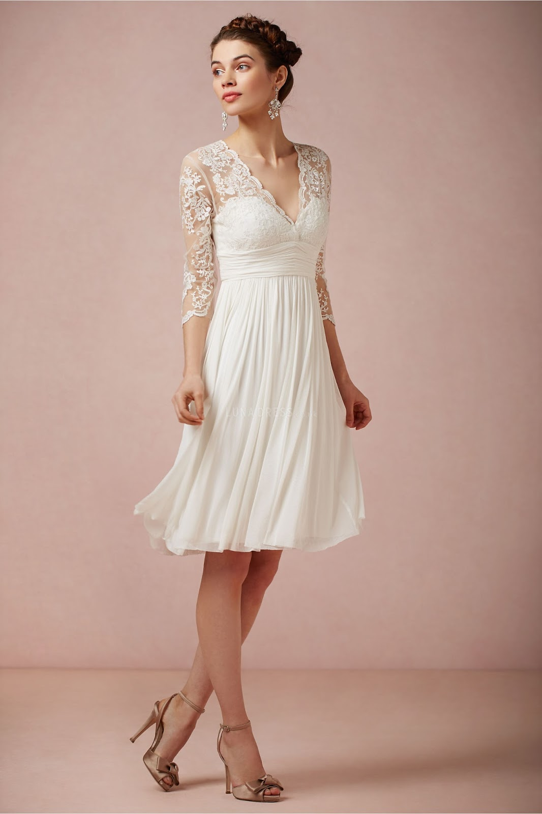 wedding dresses cold climates: Cheap Wedding Dresses With Sleeves