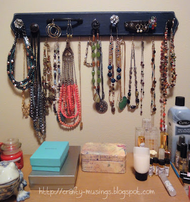 Completed jewelry rack, in situ