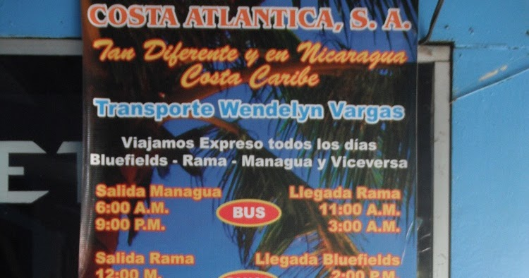 Taking a trip to the Atlantic Coast of Nicaragua by bus