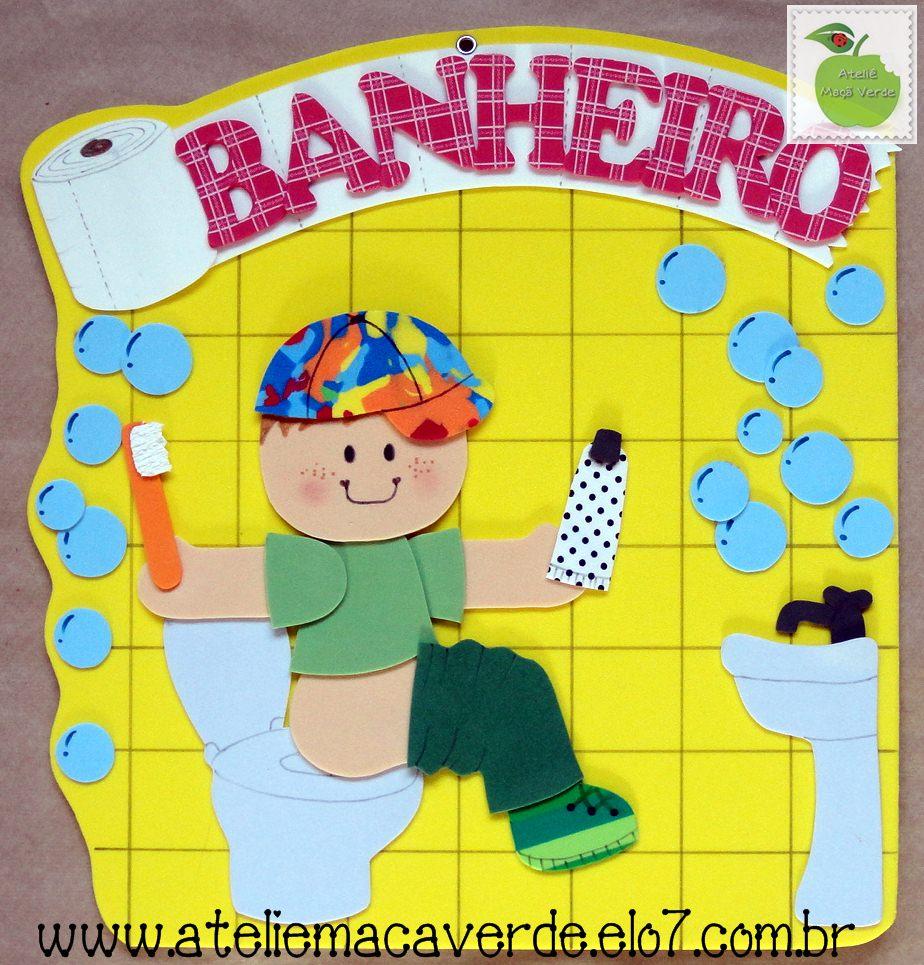 CRIS ARTES EM EVA placa para portas -> Decoracao Para Banheiro Infantil De Eva