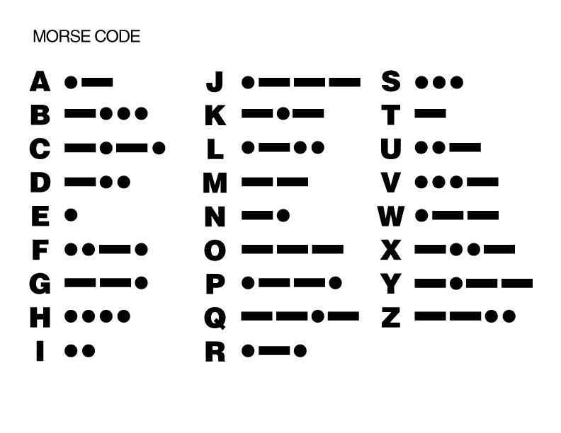 how to use morse code with tapping