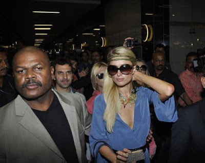 Paris Hilton - Paris Hilton arrives in India