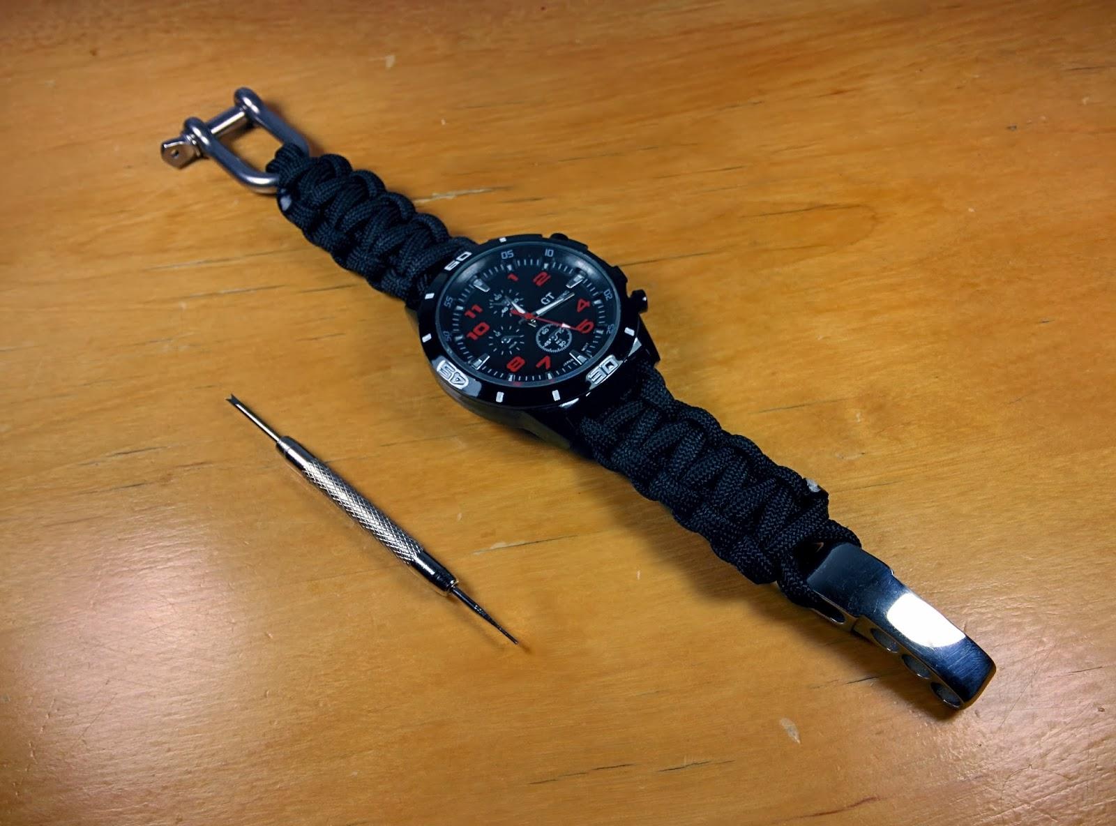 Correa de reloj ajustable hecha con - Hacer reloj de pared con fotos ...