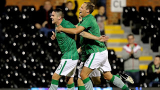 Robbie Brady Scores his first for Ireland