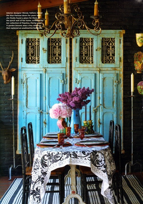 Beach gypsies rustic chic turquoise decorating for Rustic dining room designs
