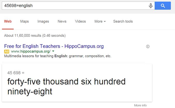 Google Pronounce Numbers