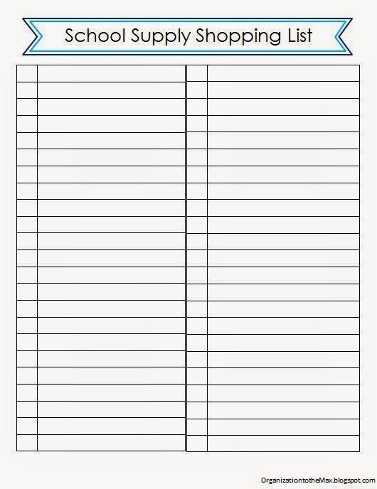supplier list template