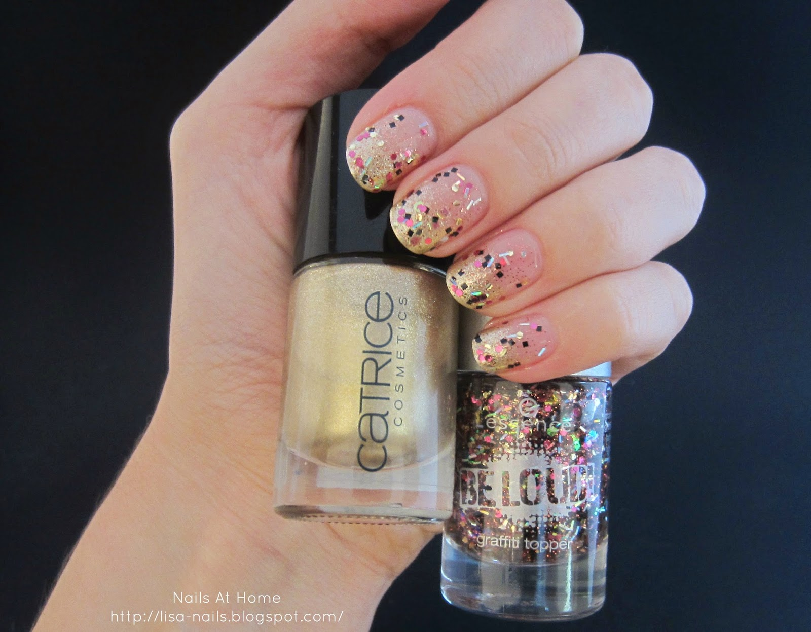 Funky Goldfinger {Birthday nail art!!}