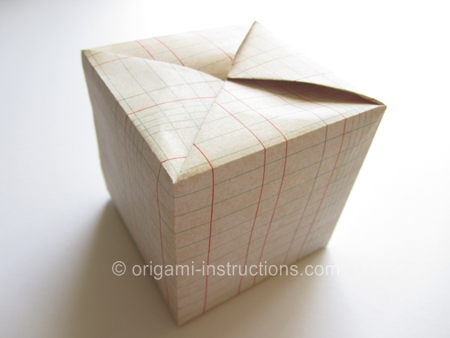 origamiinstructionscom fujimoto cube one sheet of paper