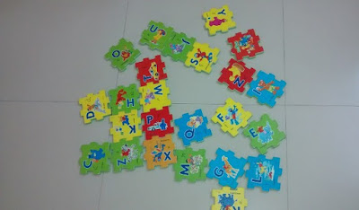 Interlocking Foam mat cards of Alphabets