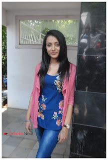 Trisha Latest Pictures in Skinny Jeans at H Productions No. 6 Movie Launch  0009