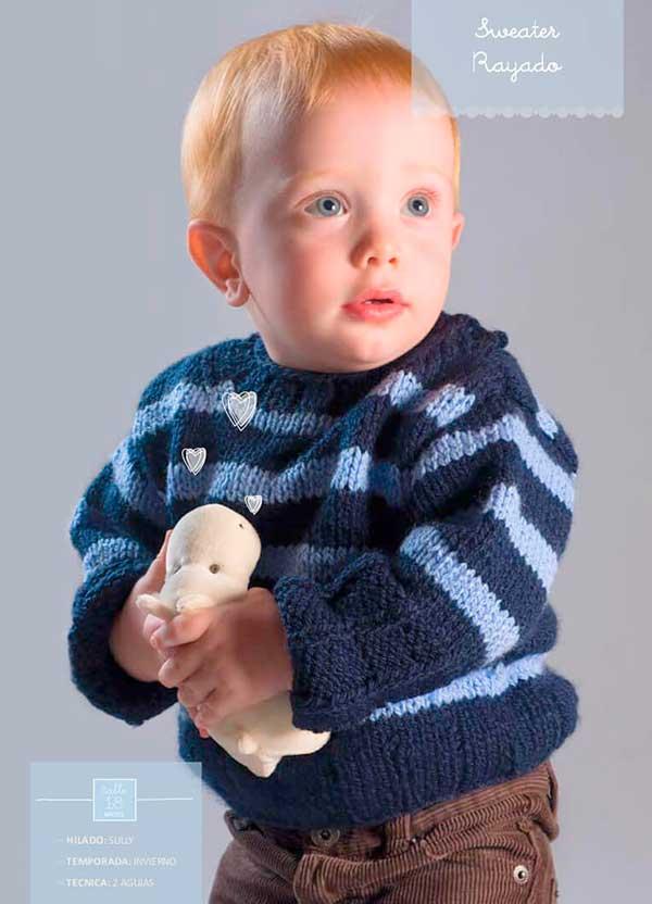 Suéter dos agujas para bebé paso a paso