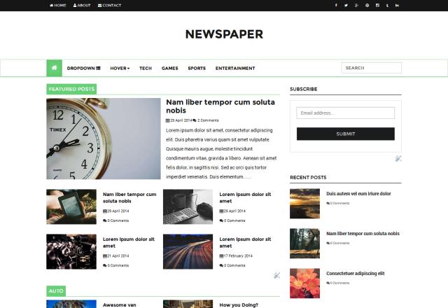 Free Html Blog Templates 10 Best Amp Blogger Templates Free