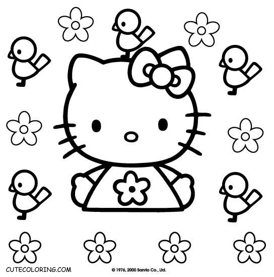 Hello Kitty Coloring Pages CuteColoring