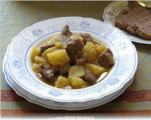 Patatas con carne de ternera