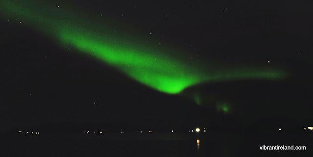 large swathe of green aurora borealis norway