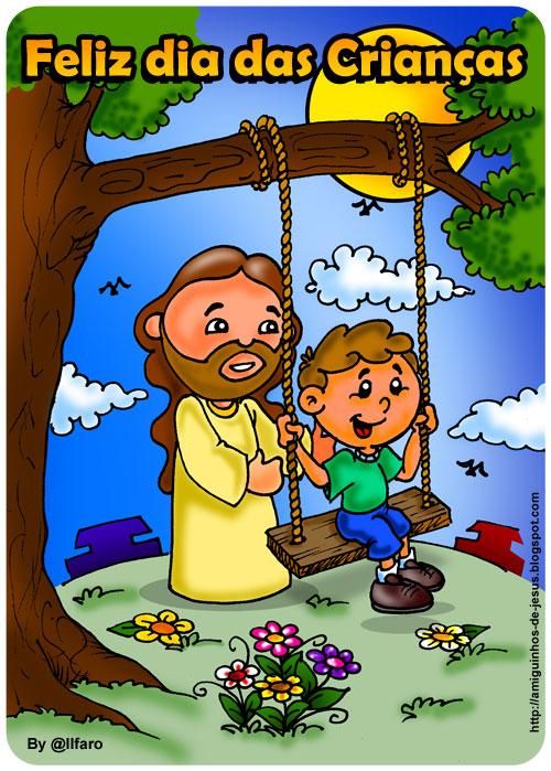 feliz dia das crianças amiguinhos de deus