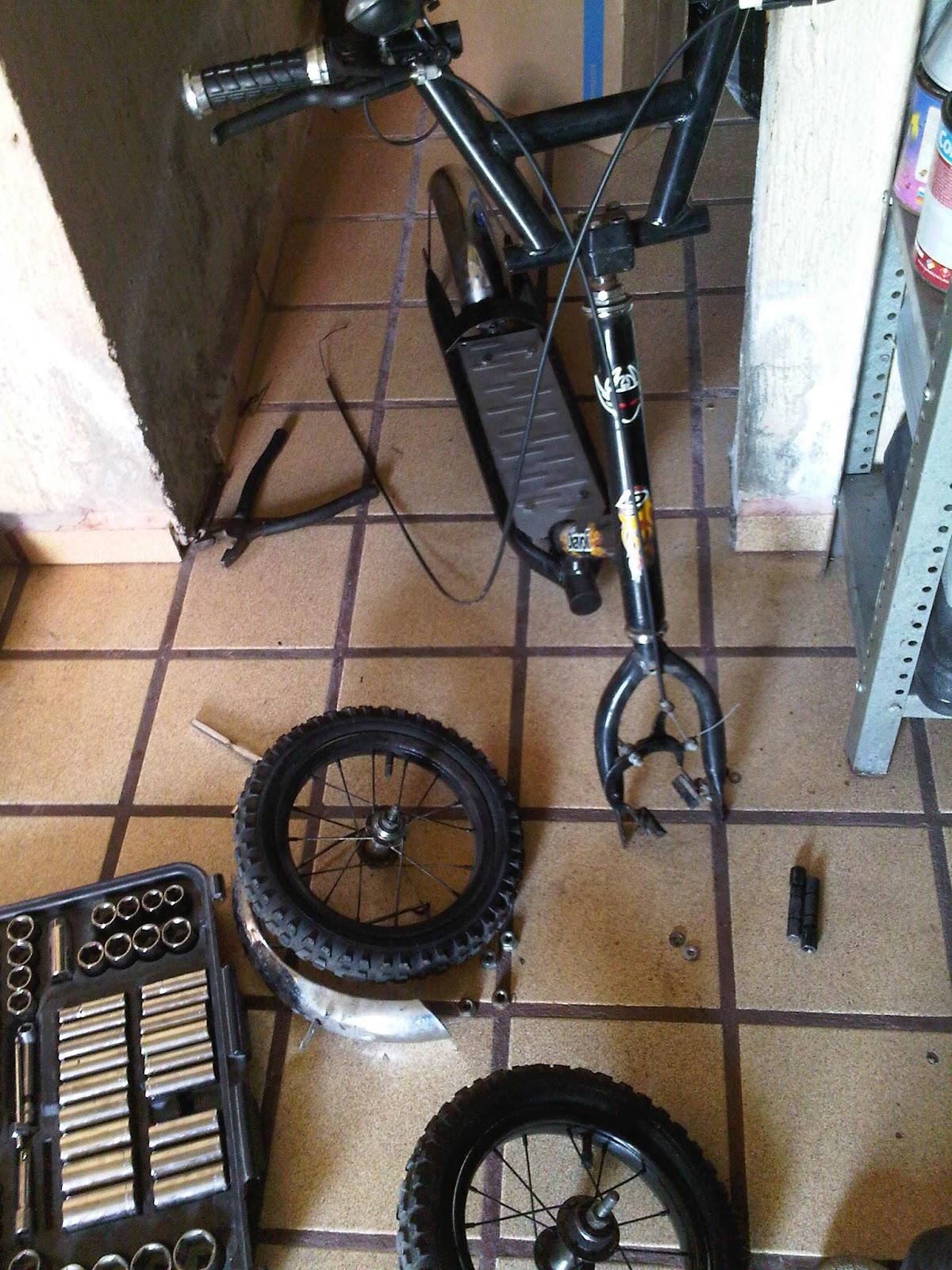 Kit de cromo para scooter vintage de lanza