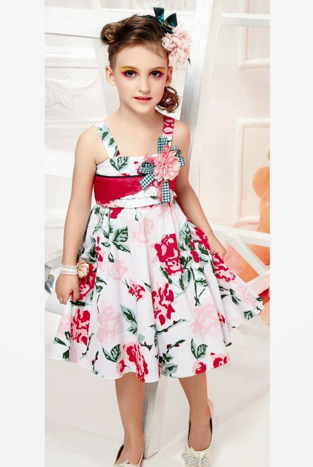 Little Girls New Dresses Designs Latest Images 2014