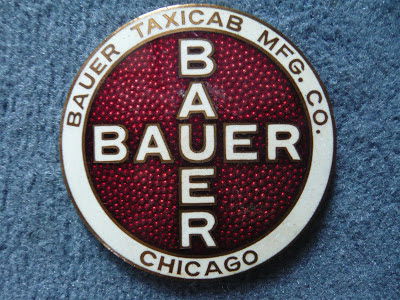 Bauer taxicab chicago radiator emblem badge vintage