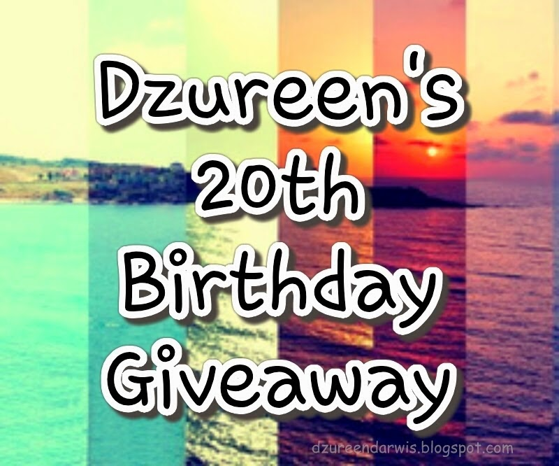 http://dzureendarwis.blogspot.com/2014/04/dzureens-20th-birthday-giveaway.html