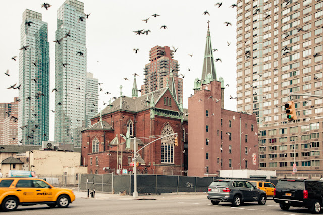 architecture,  midtown manhattan urban landscapes, church, Croatian American parish, dwelling house,