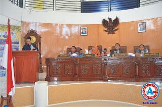 Banleg DPRD Kota Bima Sampaikan Hasil Kerja di  Rapat Paripurna