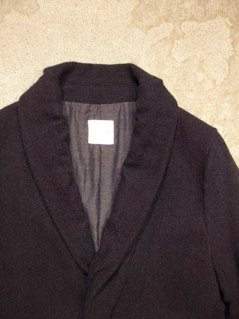TOUJOURS Stole Neck Jacket - Pure Wool Scotch Tweed Cloth Fall/Winter 2014 SUNRISE MARKET