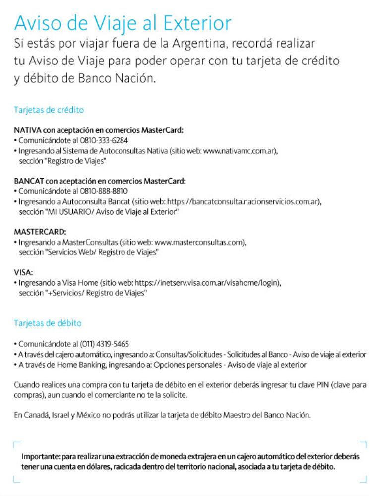 C Mo Hacer El Aviso De Viaje Al Exterior En Banco Naci N Viajo Por Europa