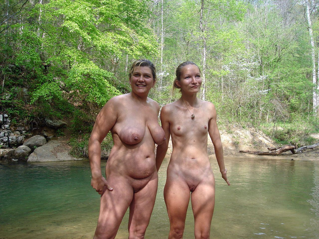Family nudist resort nude