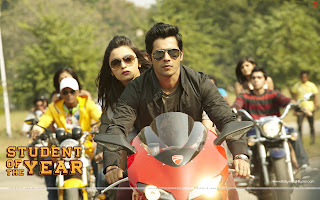Wallpaper Alia Bhatt and Varun Dhawan on bike wallpaper