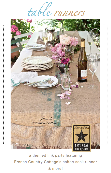 Table runners, a themed link party via Funky Junk Interiors