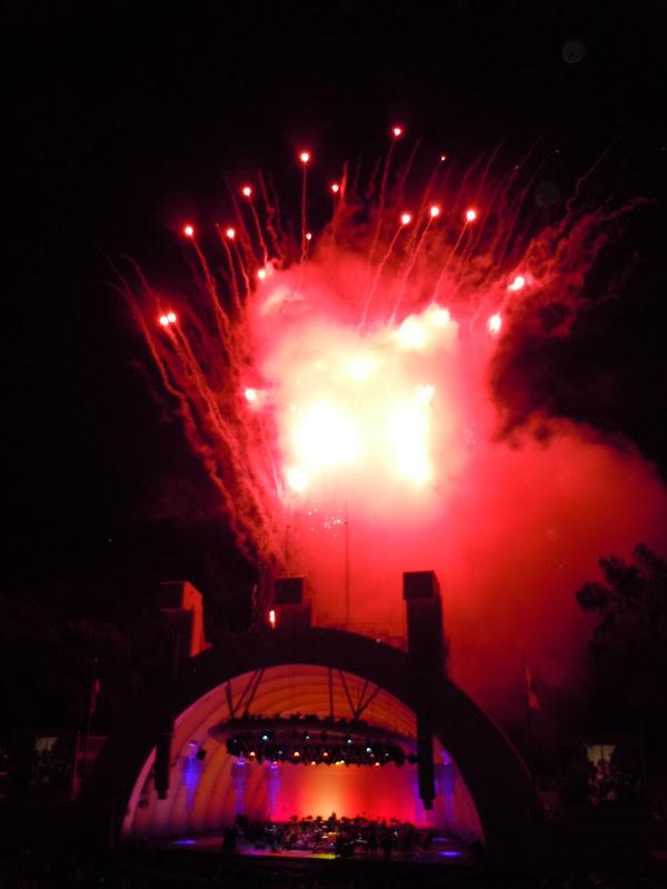 Opening night fireworks Hollywood Bowl