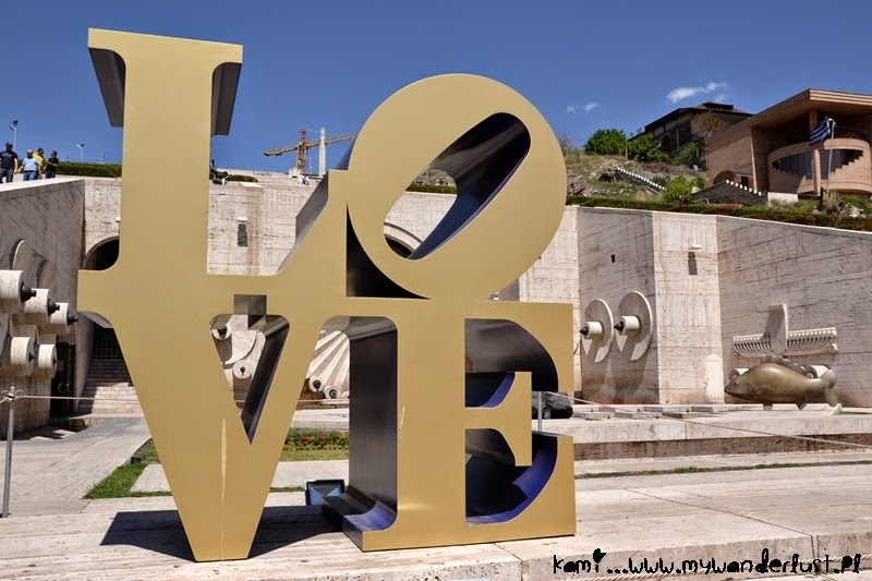 Love sculpture in Yerevan