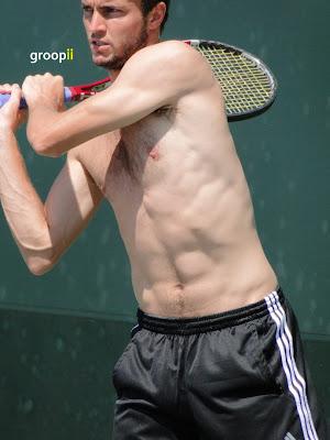 Gilles Simon Shirtless at Miami Open 2011