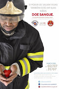 Campanha Bombeiro Sangue Bom 2012. Postado por Captação de Doadores às 09:57 (cartaz bombeiro sangue bom )