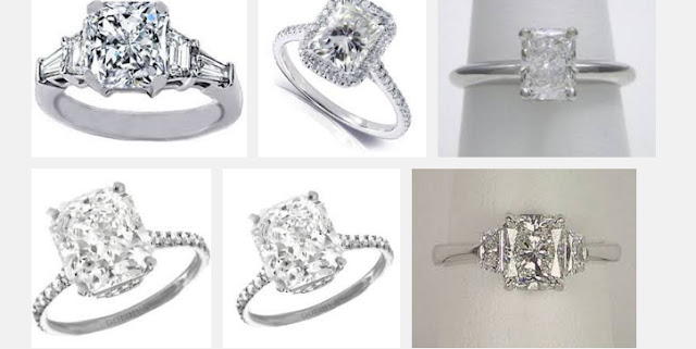 Radiant Cut Diamonds Rings