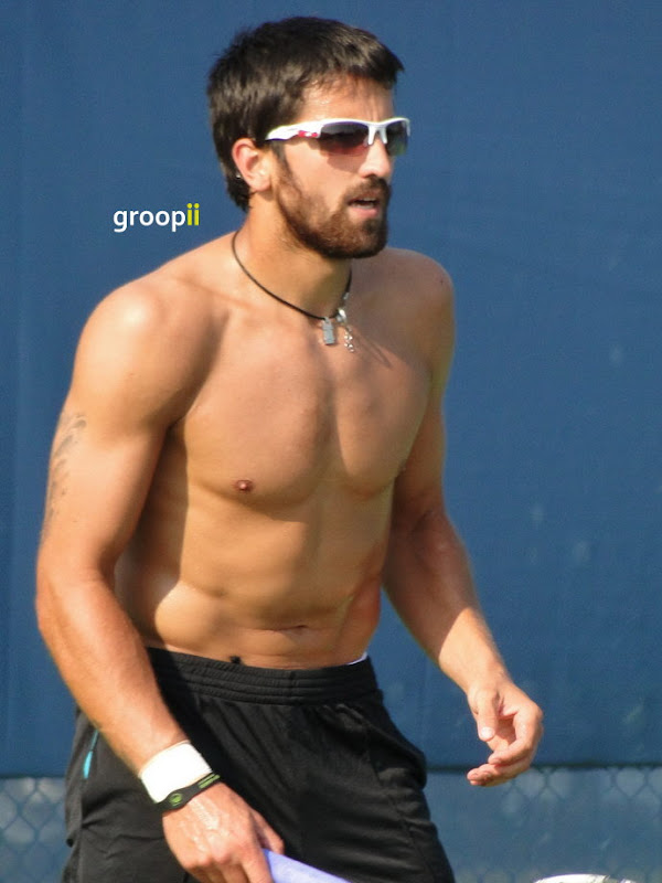 Janko Tipsarevic Shirtless at Cincinnati Open 2011