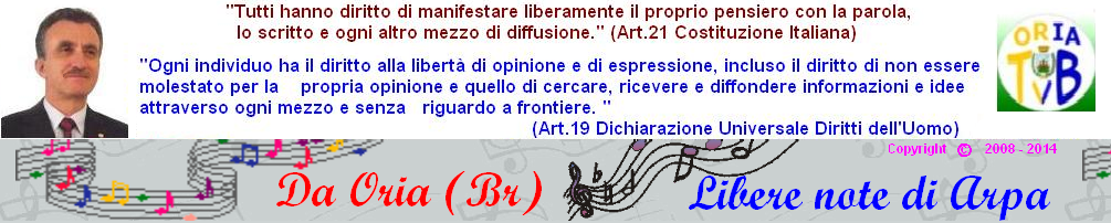 |> ORIA Blog - ORIA su internet  si pronuncia ARPA-ORIA <|