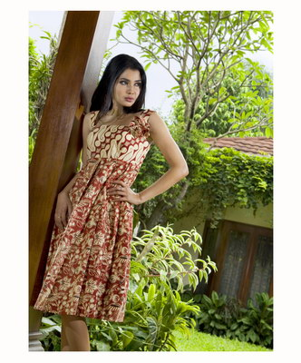 Batik Dress for Casual Clothing and Fashion Party