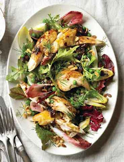 Warm chicken and chicory salad