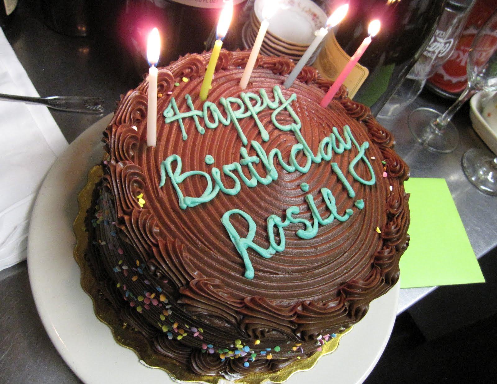 Belated Birthday Cake In The Kichen