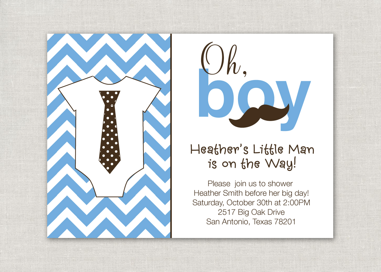 Priss prints oh boy a little man is on the way this is a fun modern baby shower invitation for a little man themed baby shower filmwisefo Choice Image