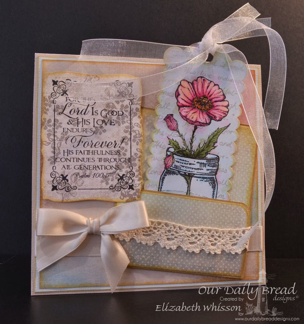 Our Daily Bread Designs, Alshandra's Corner, Canning Jars, Poppy single, Fleur de Lis Borders, Scripture Collection 11, Elizabeth Whisson, ODBD Custom bookmark dies